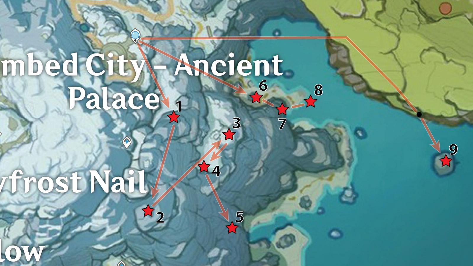 Ancient Palace - Southeast Crimson Agate Locations