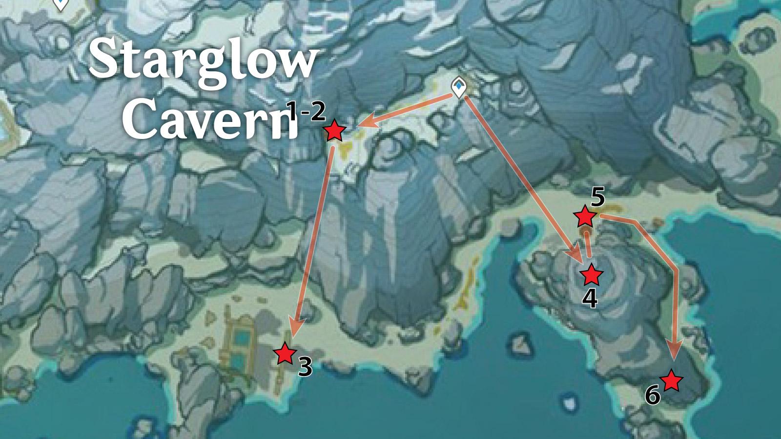 Starglow Cavern – Southeast Crimson Agate Locations