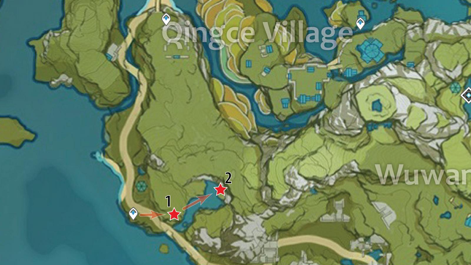 Qingce Village Crystal Chunk Farming Route