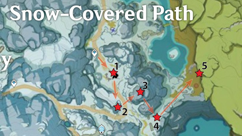 Snow-Covered Path Crimson Agate