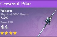 Crescent Pike   Genshin Impact Weapon Stats And Ascension Guide