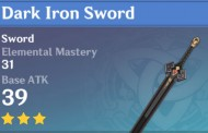 Dark Iron Sword | Genshin Impact Weapon Stats And Ascension Guide