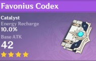 Favonius Codex | Genshin Impact Weapon Stats And Ascension Guide
