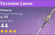 Favonius Lance | Genshin Impact Weapon Stats And Ascension Guide