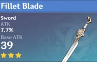 Fillet Blade | Genshin Impact Weapon Stats And Ascension Guide