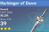 Harbinger of Dawn | Genshin Impact Weapon Stats And Ascension Guide