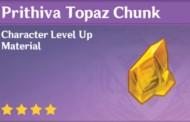 How To Get Prithiva Topaz Chunk In Genshin Impact