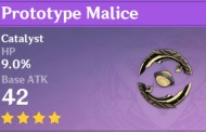 Prototype Malice | Genshin Impact Weapon Stats And Ascension Guide