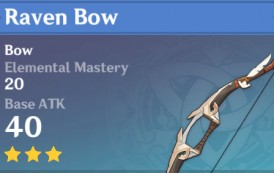 Raven Bow | Genshin Impact Weapon Stats And Ascension Guide