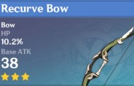 Recurve Bow | Genshin Impact Weapon Stats And Ascension Guide