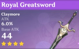 Royal Greatsword | Genshin Impact Weapon Stats And Ascension Guide