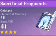 Sacrificial Fragments | Genshin Impact Weapon Stats And Ascension Guide