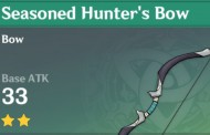 Seasoned Hunter's Bow | Genshin Impact Weapon Stats And Ascension Guide