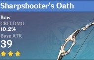 Sharpshooter's Oath | Genshin Impact Weapon Stats And Ascension Guide