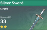 Silver Sword | Genshin Impact Weapon Stats And Ascension Guide