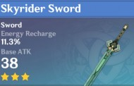 Skyrider Sword | Genshin Impact Weapon Stats And Ascension Guide