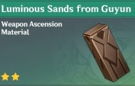 How To Get Luminous Sands from Guyun In Genshin Impact