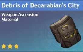How To Get Debris of Decarabian's City In Genshin Impact