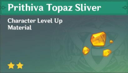 How To Get Prithiva Topaz Sliver In Genshin Impact