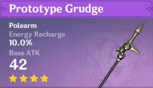 Prototype Grudge | Genshin Impact Weapon Stats And Ascension Guide
