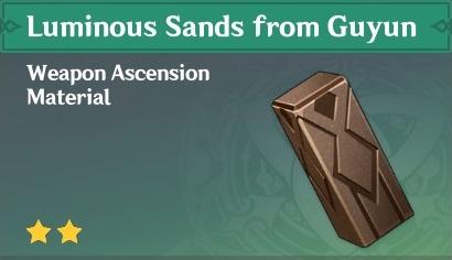 How To Get Luminous Sands from Guyun In Genshin Impact