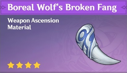 How To Get Boreal Wolf's Broken Fang In Genshin Impact