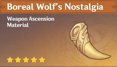 How To Get Boreal Wolf's Nostalgia In Genshin Impact