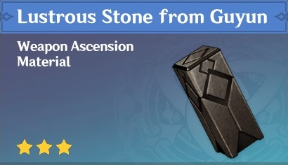 How To Get Lustrous Stone from Guyun In Genshin Impact