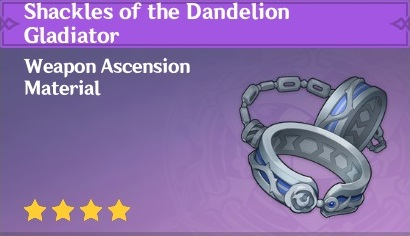 How To Get Shackles of the Dandelion Gladiator In Genshin Impact