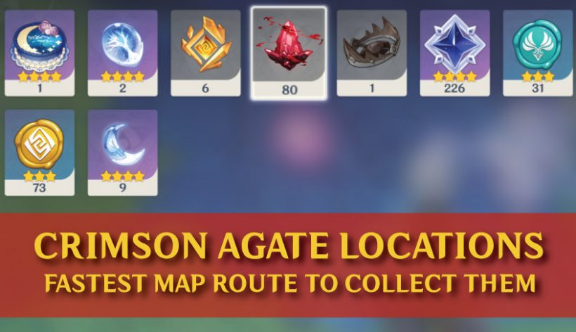 Crimson Agate Locations And Map Guide In Genshin Impact