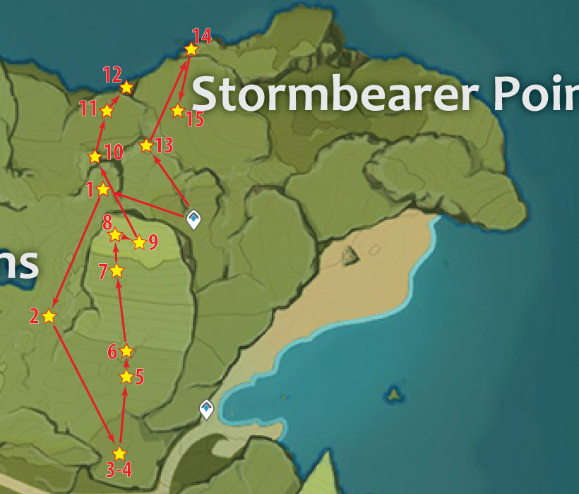 Stormbearer Point Chest Locations In Genshin Impact